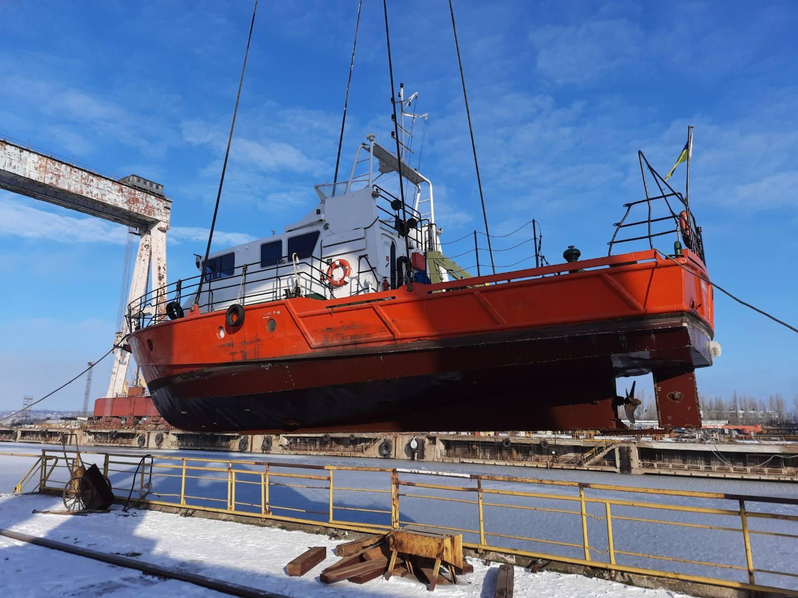 Ремонт большого гидрографического катера «А. Лысенко»
